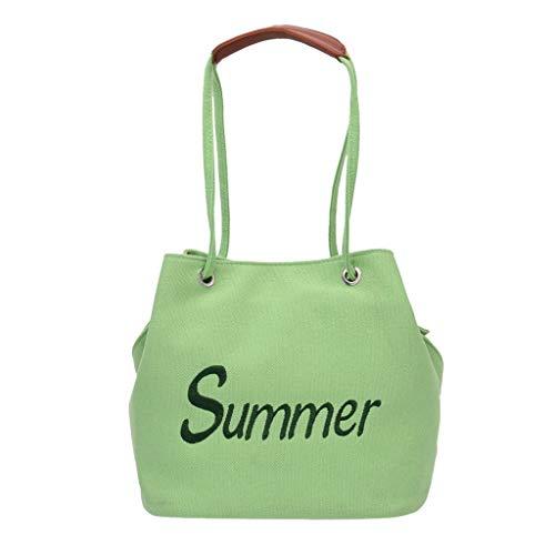Damen Shopper Handtasche Crossbody Tasche Shell Schulter Umhängetaschen Messenger Bag,Fashion Women 's Solid Color Zipper Canvas Umhängetasche Messenger Bag -