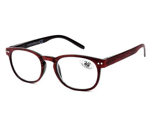 f7db5b18bd Gafas Efecto Madera para Lectura Vista Cansada Presbicia, Graduadas  Dioptrías +1.00 hasta +3.50