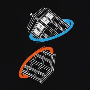 TEXLAB - Doctor Portal - Herren T-Shirt Schwarz