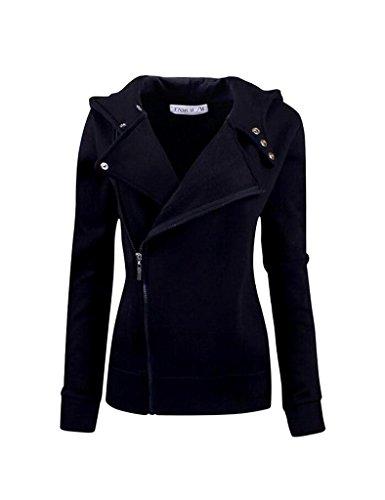 Bestgift Damen Coat Ohne Knopf Lang Coat Lange Ärmel Outerwear Lose Trenchcoat Dunkel Blau S