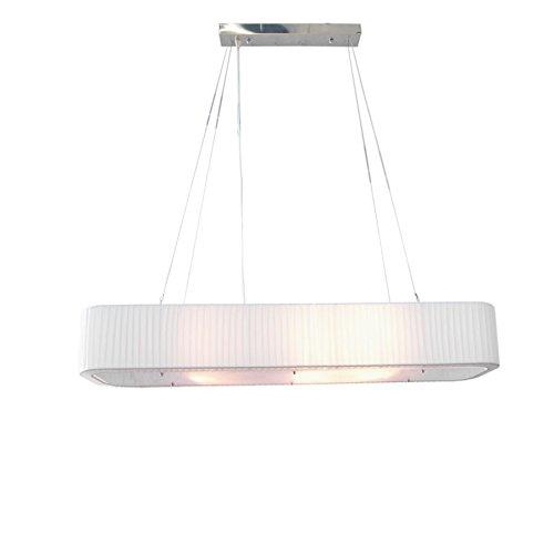 Design Hängelampe PARIS 100cm weiß Hängeleuchte Pendelleuchte Deckenleuchte Bürolampe...