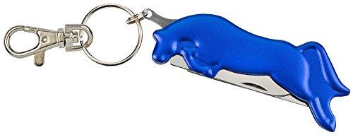 Jumping Horse Pocket Messer-hat ein 4,7cm Edelstahl Klinge und einem Hufkratzer-Gehäuse ist aus buntes Aluminium-erhältlich in Silber, Blau und Rot Blau blau -
