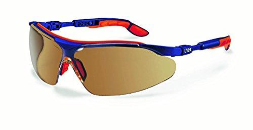 Uvex-Occhiali protettivi lenti antigraffio, i-vo, colore: blu/arancio, Cornice portafoto, (marrone)