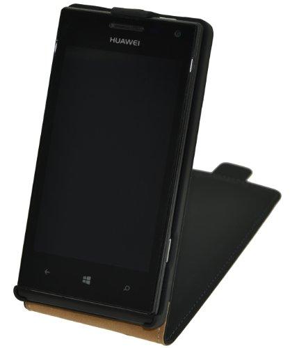 Premium Flip-Style Handytasche fuer - Huawei Ascend W1 - Tasche Etui Huelle Schutzhuelle (Spezielle Anfertigung)