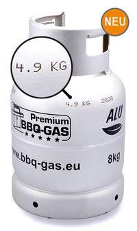 BBQ Gas 8 kg in Aluminium Kaufzylinder