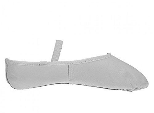 Leder-Ballettschuhe, Voll-Schuhsohle, Erwachsene- und Kindergrößen Weiß