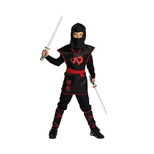 Rubies Ninja Krieger Jungen Kinder Kostüm Fasching Karneval Verkleiden: Größe: 128