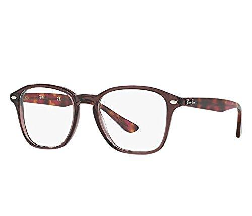 Ray-Ban RX5352 Lunettes en noir brillant RX5352 2000 52 Opal Brown