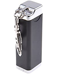 Quantum Abacus Mini-Aschenbecher/Taschenaschenbecher / Reiseaschenbecher - Zinklegierung - Karabiner, schwarz, 020-04 (DE)