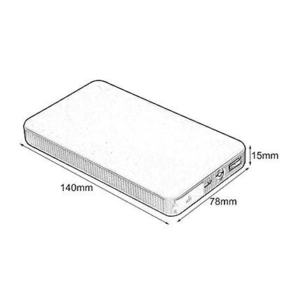 Dailyinshop 12V 20000mAh Mini Cargador portátil multifunción portátil para arrancadores de Emergencia Cargador de batería de Arranque de Emergencia, Amarillo