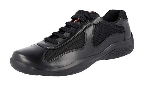 Prada Leder America's Cup Sneaker, schwarz, Schwarz - schwarz - Größe: 39.5