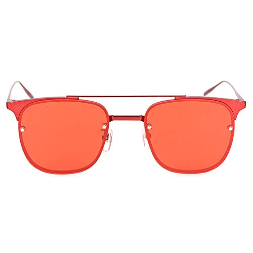 Yiph-Sunglass Sonnenbrillen Mode UV400 100% Mens Ladies 'Rippud Klare Linse for Angelbetrieb Polarisierte Linse Sonnenbrille (Farbe : Red Frame/Red Lens)