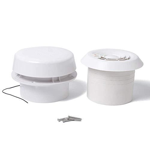 Matedepreso Abluftventilator für Abluftventilator/Wohnmobil, ABS, Wohnmobil, Dachventilator, weiß, Free Size