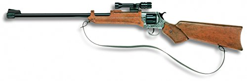 Edison Giocattoli Wichita: Spielzeuggewehr in Geschenke-Box für Cowboys und Sheriffs, ideal für Fasching, für 12-Schuss-Munition, 77.3 cm, braun (E0229/93)