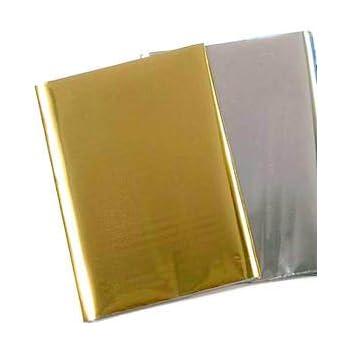 Wachsplatte 80x220mm Metallic silber gl/änzend Spielzeug