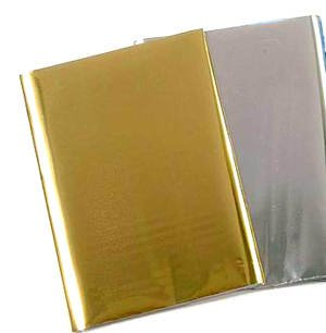 Wachsplatte 80x220mm, Metallic silber glänzend [Spielzeug]