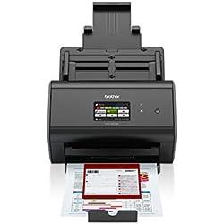 Brother ADS-2800W Scanner bureautique |A4 | recto-verso | 40 ppm | Ecran couleur tactile | Scan to USB | Ethernet et Wi-Fi
