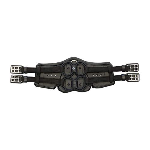 Stübben Equi-Soft® Sattelgurt inkl. Polster - schwarz - 65cm - Vachetteleder schwarz