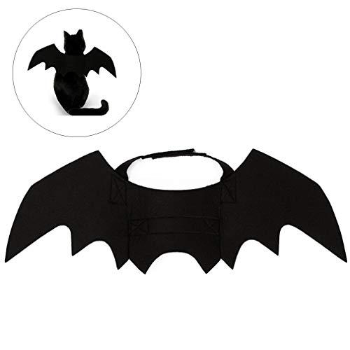 Halloween Haustier Fledermaus Flügel Kostüm für Katzen, Hund, Katze, Kätzchen, Flügel, Kostüm für Halloween, Schwarz (Schwarze Kätzchen Kostüm)