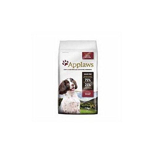 Applaws Katzenstreu Trockenfutter für Hunde Small & Medium Breed Adult Huhn mit Lamm (7,5kg (6Stück)