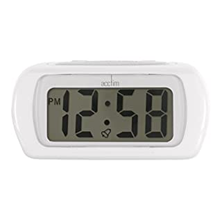 Acctim 12342 Auric Alarm Clock, White