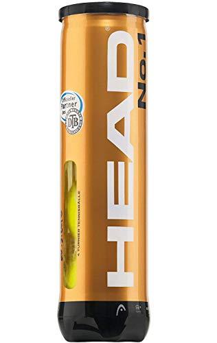 Head - No. 1 DTB Turnierbälle - Tennisbälle - 12 Bälle (3 Dosen) - gelb - hochwertiger Allroundball