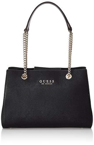 Guess robyn girlfriend satchel, borsa a mano donna, nero (black), 12x22x32 cm (w x h x l)