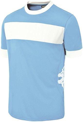 Kappa Remilio SS, Camiseta de equipación Hombre, Multicolor Azul claro / Blanco, XXXL