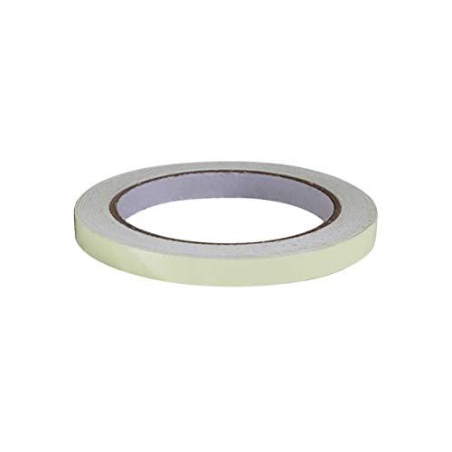 Corneliaa 10mm * 10m Glow Tape Sicherheitsaufkleber Selbstklebender fluoreszierender Acrylaufkleber -