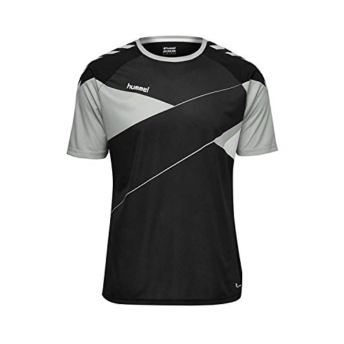 Hummel Herren Court S/S Trikot T-shirt, mehrfarbig (Black/High Rise), L
