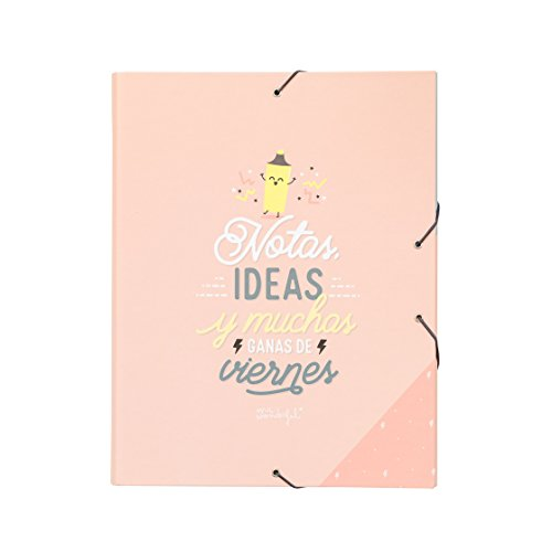 Mr; Wonderful Woa09051Es Carpeta Separadora Notas, Ideas Y Muchas Ganas De Viernes