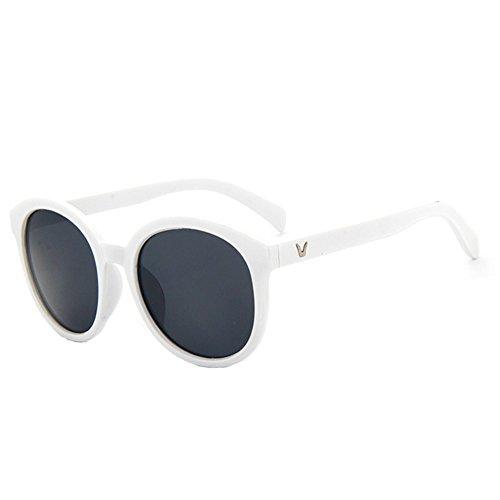 Z-P New Vintage For Unisex Reflective UV400 Round Sunglasses 55MM