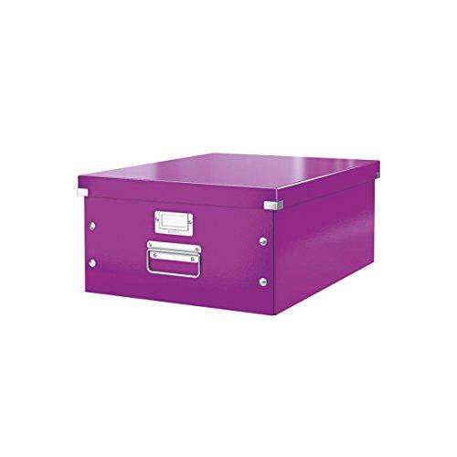 Leitz, Große Aufbewahrungs- und Transportbox, Lila, Mit Deckel, Für A3, Click & Store, 60450062