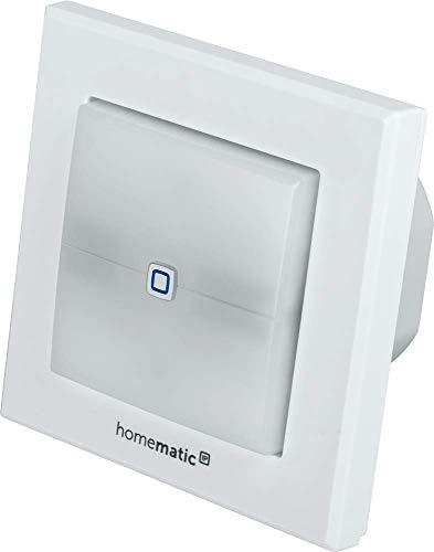 Homematic IP Smart Home Schaltaktor für Markenschalter - mit Signalleuchte, schaltet Geräte im Smart Home auch per App, 152020A0
