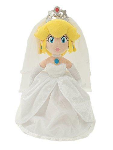 SAN-EI CO.,LTD. ???? Super Mario Odyssey Plüsch Figur: Prinzessin Peach [Wedding Style] -