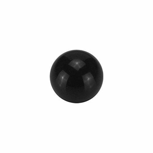 eeddoo® 1,2 mm - 3 mm - Black Steel - Schraubkugel (Piercing Schraubkugel Aufsatz Teil für Stäbe, Labrets, Barbells, Hufeisen, Bananen etc.)