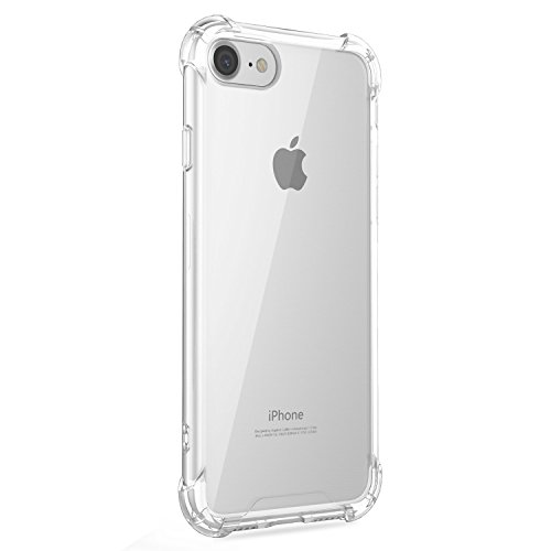 c4d88e544ac Funda iPhone 6/6S Plus Carcasa Silicona Transparente Protector TPU Airbag  Anti-Choque Ultra-Delgado Anti-arañazos Case para Teléfono Apple iPhone 6/6S  Plus ...