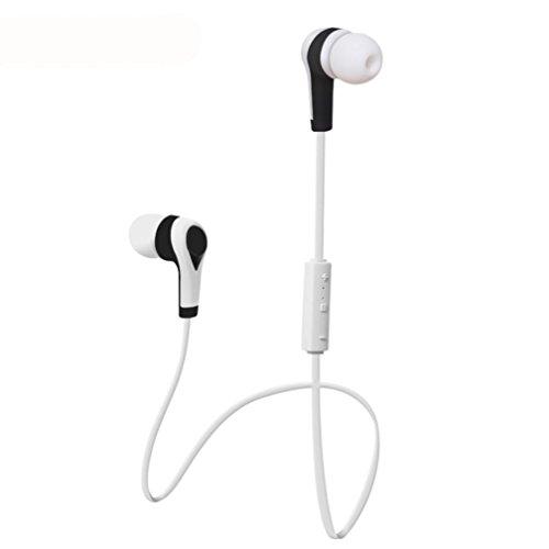 Transer® Stilvoll Bluetooth Kopfhörer Wasserdichte Wireless Sport Kopfhörer Universal Earphone Für Handy/Computer Earbuds Headsets Ohrhörer (Weiß)