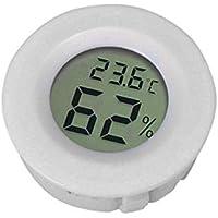 HEIRAO Rettili Anfibi Termometro e igrometro, misuratore di monitoraggio per casa, Interni ed Esterni