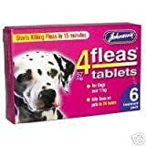 Best Dog Fleas - Johnsons Veterinary Products 4Fleas Dog Tablets, Large, 57 Review