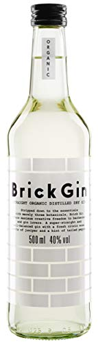 Brick Gin - BIO - Organic Distilled Dry Gin - perfekt für Gin and Tonic - 1 x 0.5l -