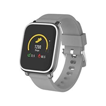 Denver Electronics SW-160 Gris– Reloj Inteligente, Bluetooth, Sensor de frecuencia cardíaca