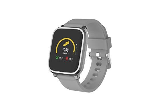 Denver Bluetooth-Smartwatch 'SW-160' mit Herzfrequenzmesser und Smart Wake-Up, Grau