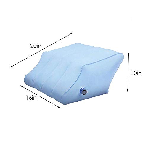 Bequemes Aufblasbares Bein-Kissen, Bein-Stützaufblasbares Gerät Für Die Schlafen-, Hüft- Und Gelenkschmerz-Gedächtnis-Schaum-Keil-Kontur, Leichtgewichtler Und Portable, Zum des Knies Zu Entlasten -
