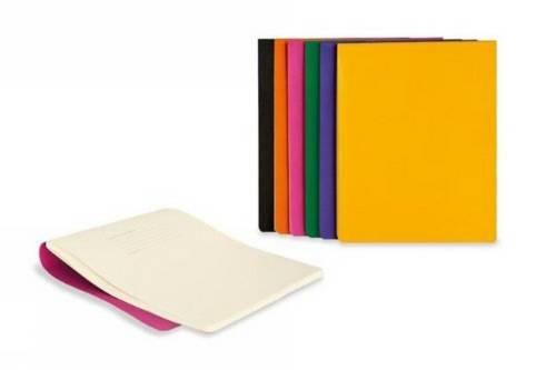 Moleskine Cover für Digitalgeräte / iPad3 + iPad4 / Volant Reporter Ersatznotizheft 2er-Set/Kadmiumorange