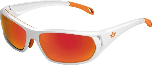 Bollé Sonnenbrille Ouray, shiny whiteb-clear tns fire, 11543