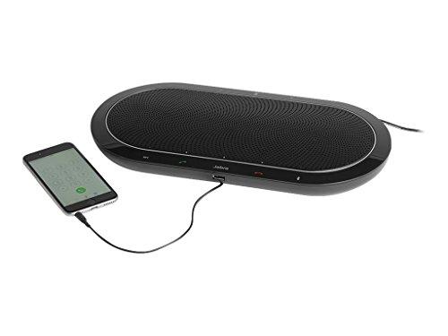 Jabra Speak 810 MS stationäre Profi-Konferenzlösung mit USB/Bluetooth/3,5mm-Klinke für PCs/Laptops/Smartphones/Tablets, für bis zu 15 Personen, Skype for Business-zertifiziert Digital Docking Speaker System