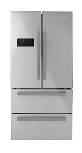 Beko GNE60521X Independiente 549L A+ Acero inoxidable nevera puerta lado a lado - Frigorífico side-by-side (Independiente, Acero inoxidable, Puerta francesa, LED, Tocar, LCD)