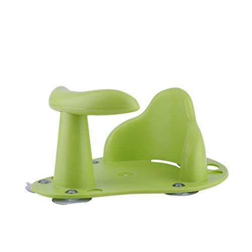 YWLINK Baby Badesitz,Baby Badespielzeug Wanne Ring Sitz rutschfeste Sicherheitsstuhl FüR Kleinkind Kinder Mit 4 SaugnäPfen (Grün)