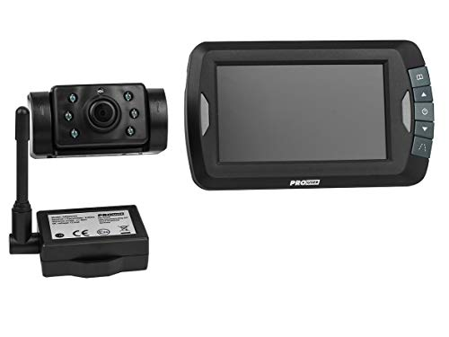 Pro-User APR043 20120 Funk-Rückfahrkamerasystem mit 4,3\'\' Monitor und Nachtsichtkamera